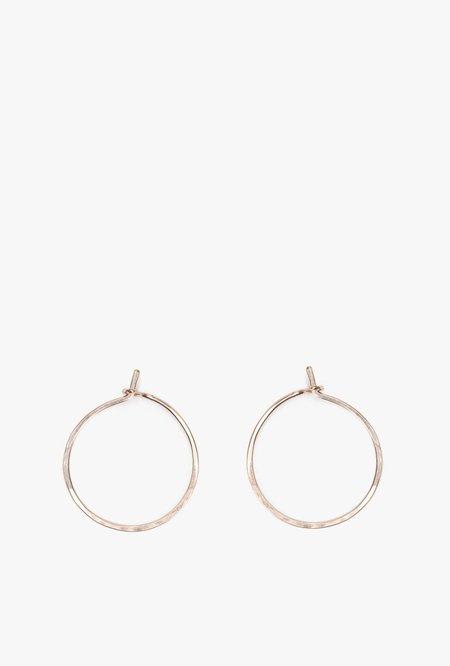 Circadian Studios Tiny Circle Earrings - 14K GOLD FILL
