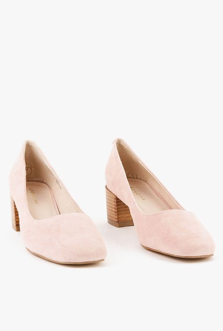 Grey City Tweed Shoes - PINK