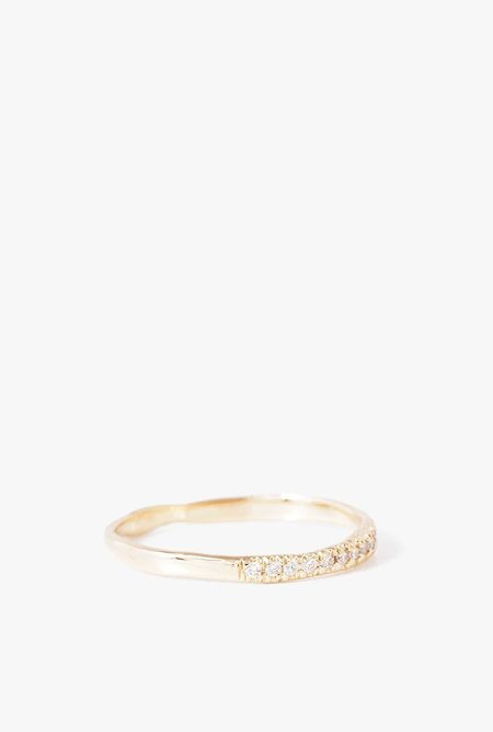 Blair Lauren Brown Fine Diamond Eye Ring - 18k Yellow Gold