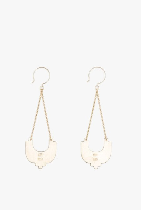 Ak Studio Firelight Earrings - Brass
