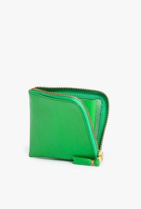 Comme des Garçons Half Zip Wallet - GREEN