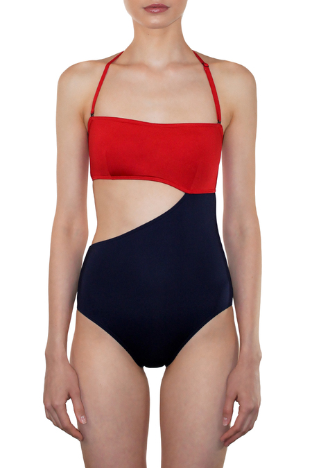 MEI L'ANGE MADELINE BAND MAILLOT - NAVY RED