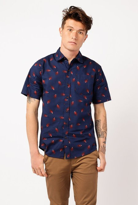Katin Leaves Shirt - NAVY