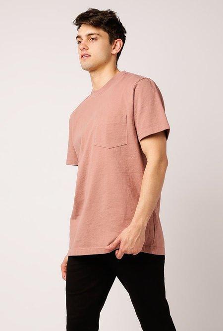 WELCOME STRANGER OD Bison Pocket T-Shirt - Burlwood