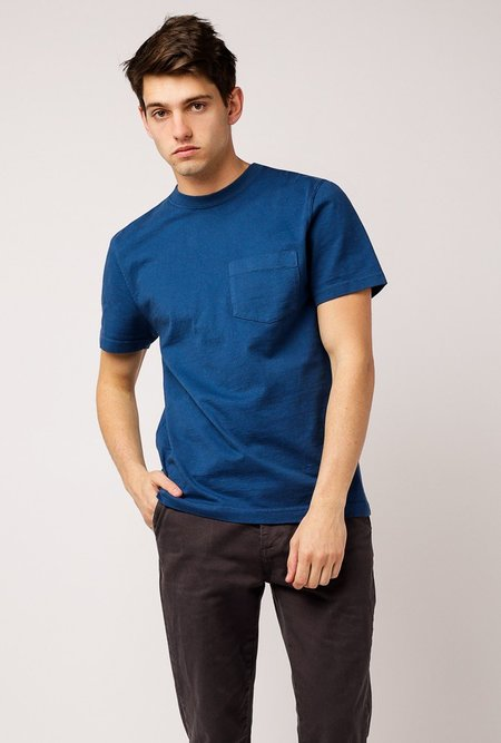Welcome Stranger OD Bison Pocket T-Shirt - Marine Blue