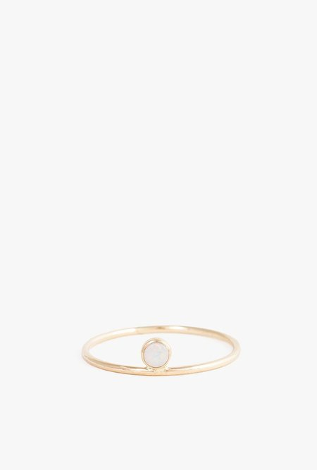 Minoux Opal Dot Ring - Gold