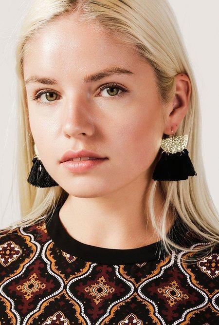 Flaca Sunrise Tassel Earrings - 18k Yellow Gold
