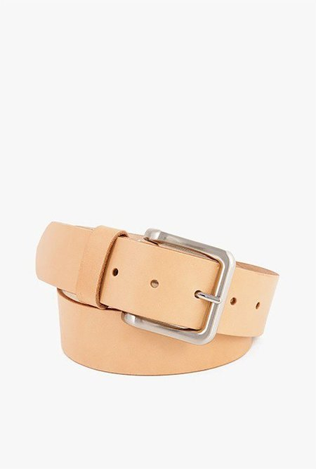 WELCOME STRANGER WS Leather Belt - Natural