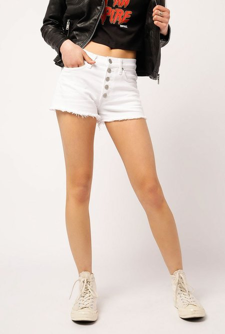 Hudson Jeans Zoeey Hi Rise Short - WHITE