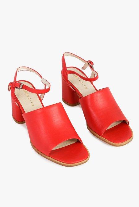 Grey City Renae Sandal - RED
