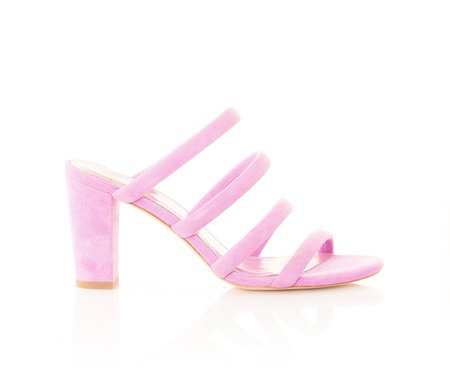 Charlotte Stone Bettina Strap Sandals - Suede Orchid