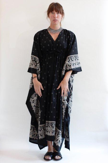 Visvim Bandana Kaftan Dress - black