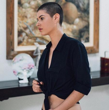Ararose Melissa Linen Shirt - navy