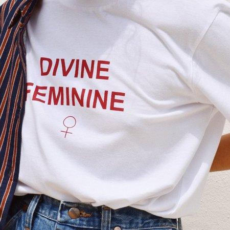 Ararose Divine Feminine Tee - WHITE