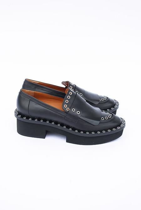 Robert Clergerie Bianca Leather Platform Loafers - Black