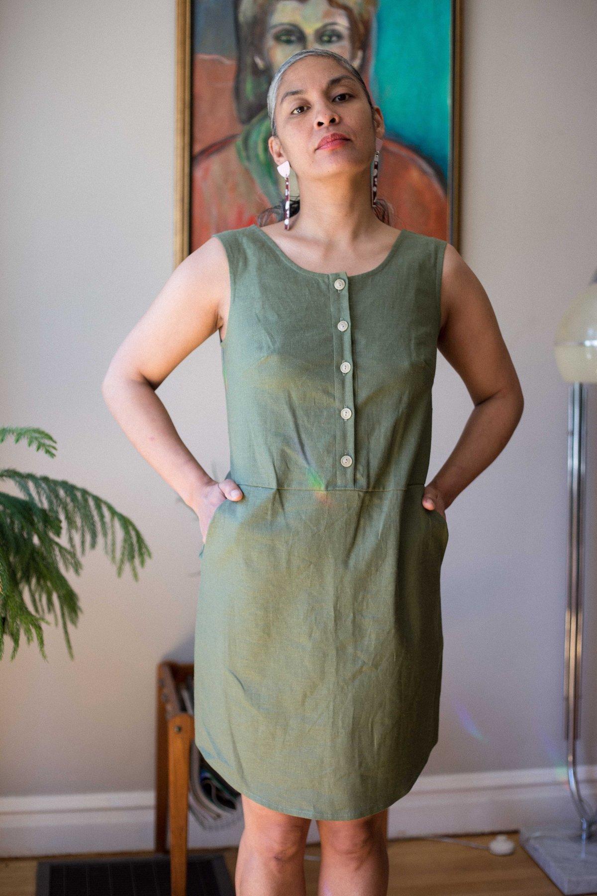 d515f7197206 Birds of North America Nightjar Dress - Leaf | Garmentory