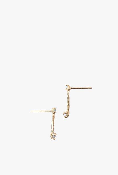 Valley Rose Studio Lyra Earrings - GOLD/OPAL