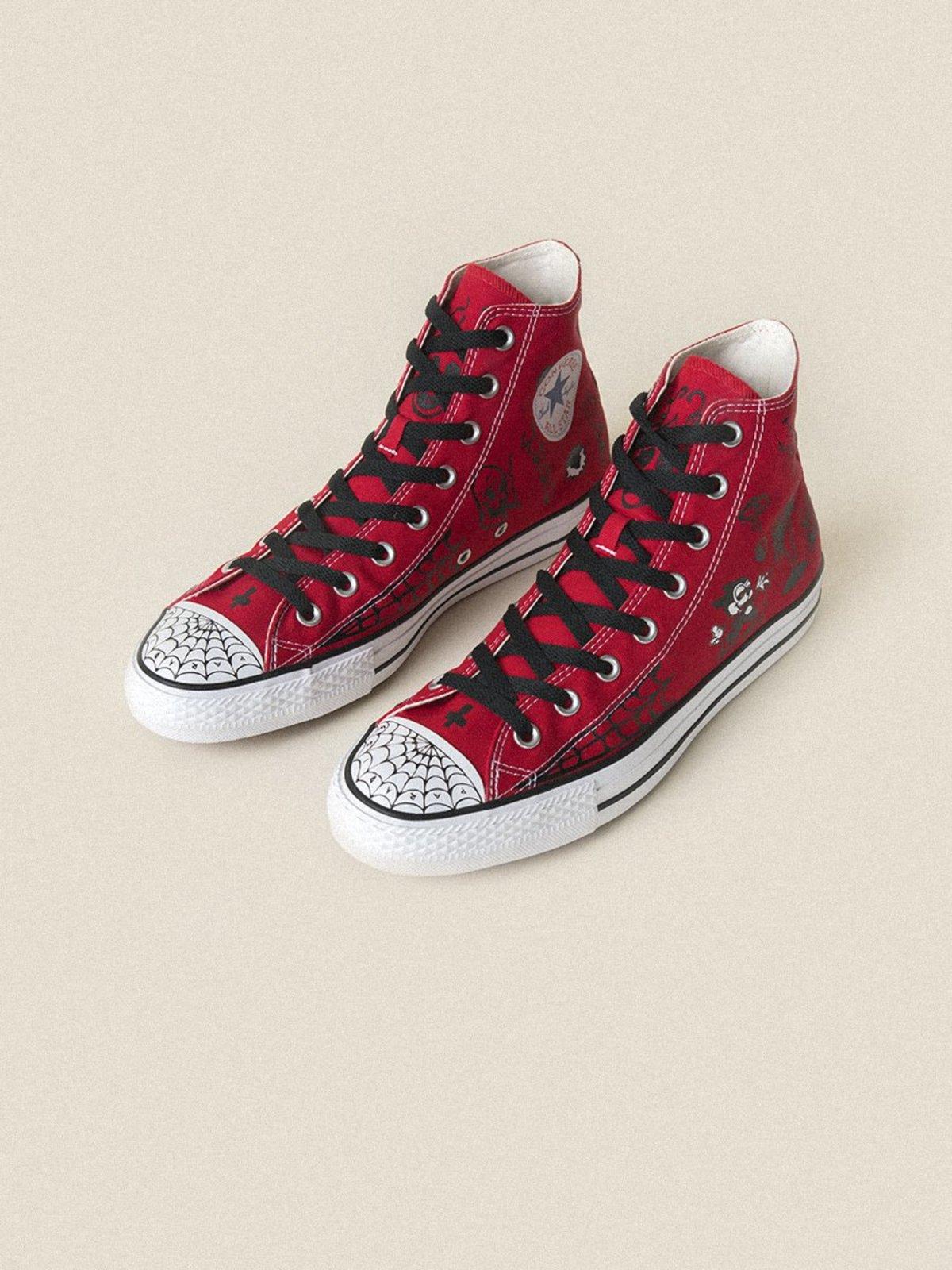 Converse Sean Pablo CTAS Pro Hi Sneakers - Enamel Red Black White ... 0e3c13756