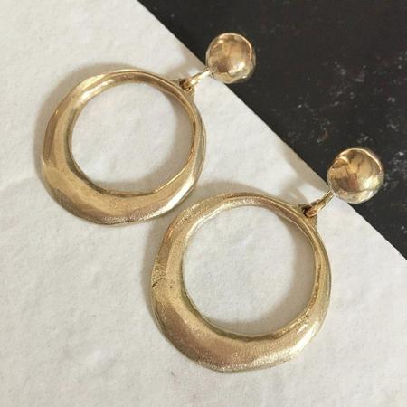 Slantt Regina Earrings - Yellow Bronze