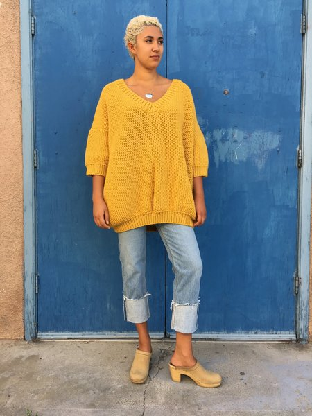 I love Mr Mittens Jacqueline Wool SWEATER - Mustard