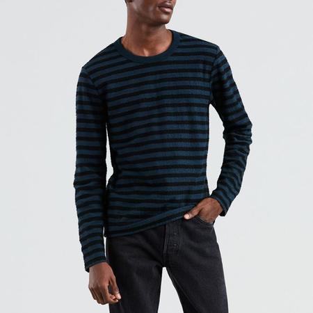 Levi's Made & Crafted Slub Long Sleeve Tee - Blueshade Tony Stripe