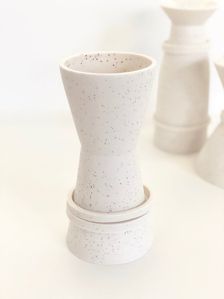 Sandbox Ceramics Hourglass Ringed Vase