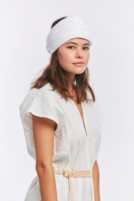 Miranda Bennett Linen Head Wrap - White