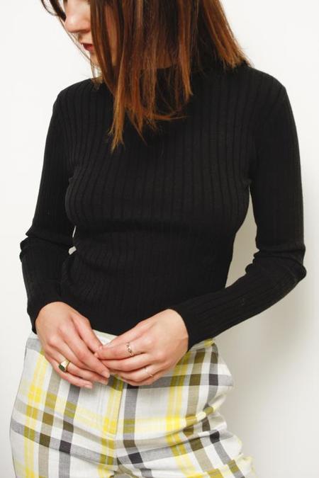 Wild Honey Bunny Ribbed Sweater - Black