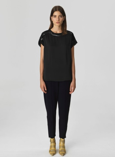 By Malene Birger Sequin Top - Black