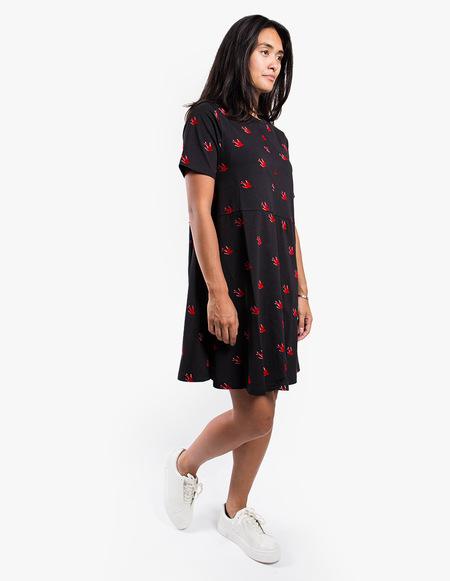 McQ Alexander McQueen Cut Babydoll Dress - Black
