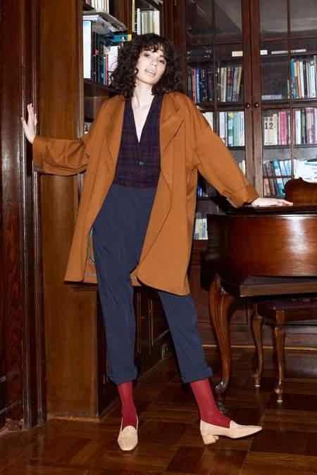 Chistine Alcalay Short Sleeve Shirt - Plaid