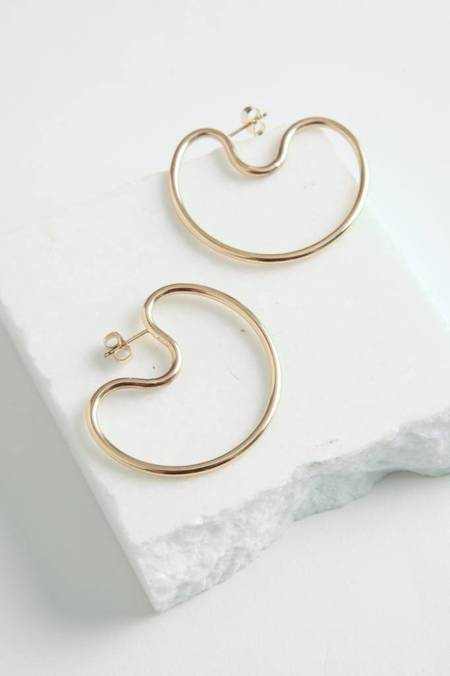 By Boe Small Indented Hoops