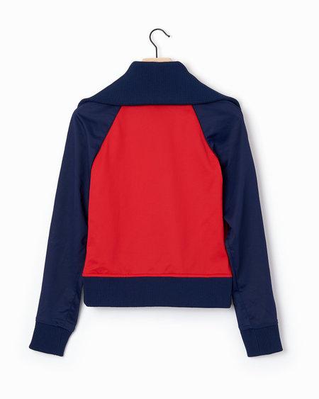 Marni Zip Sweatshirt - Red/Gold/Navy