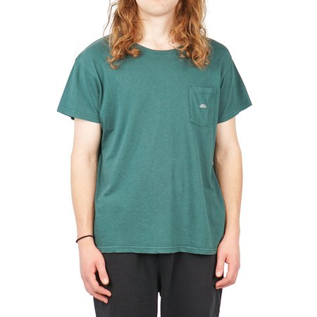 SECOND/LAYER SPIRAL POCKET T SHIRT - DARK GREEN