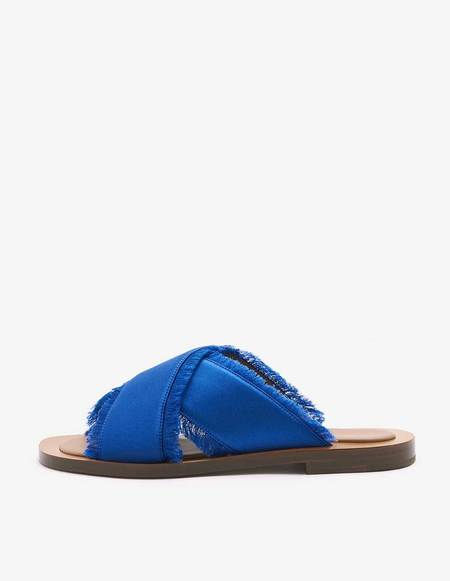 Amblême Madrague Mediterraneo Satin Sandals - Blue