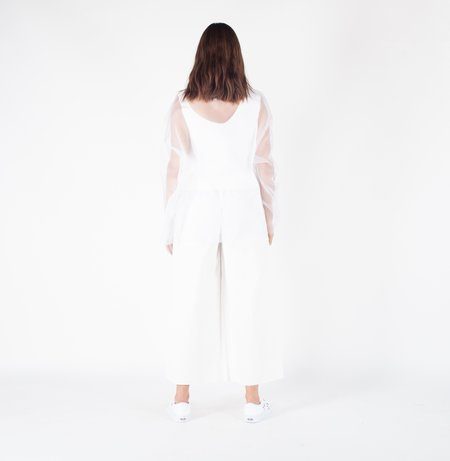 Ashley Rowe 3/4 Turtleneck - White