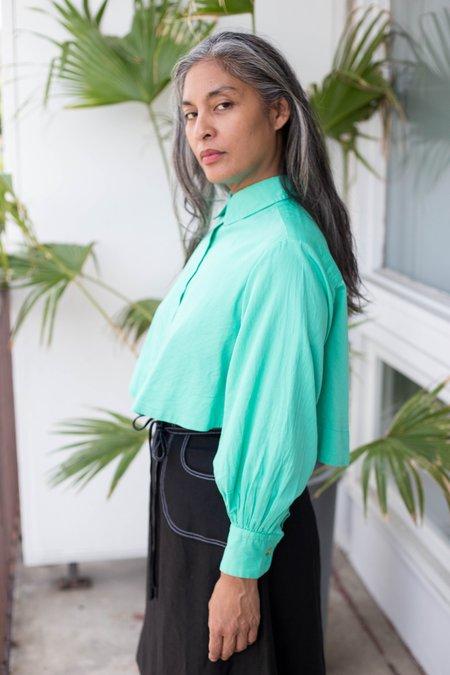Maggie Jayne Crop Blouse - Green