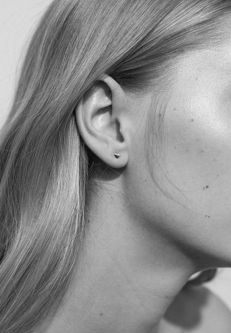 Meadowlark Micro Pebble Stud Earrings - Silver