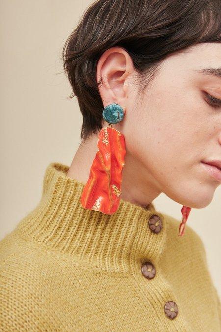Rachel Comey Collision Earrings - Red
