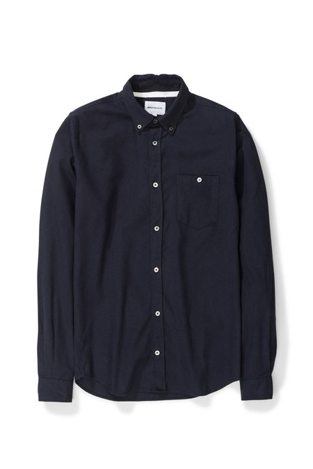 Norse Projects Anton Brushed Flannel - Dark Navy