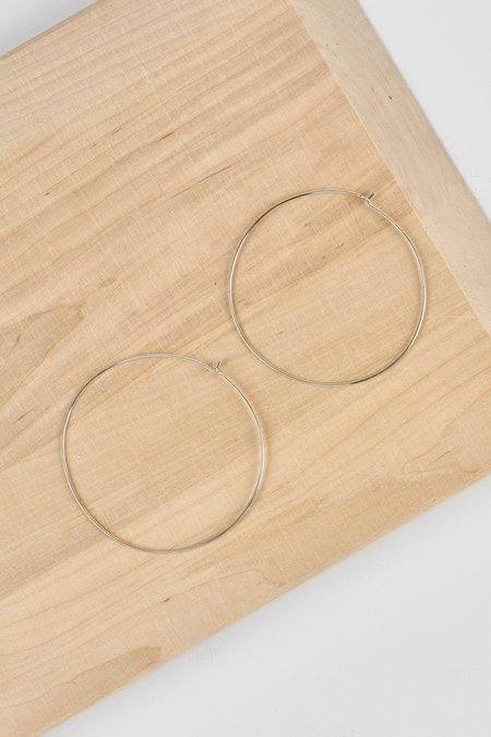 Not Tracked Thatch Lola Hoops - Sterling Silver