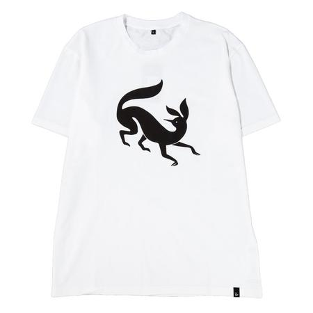 by Parra Confused Fox T-shirt - White
