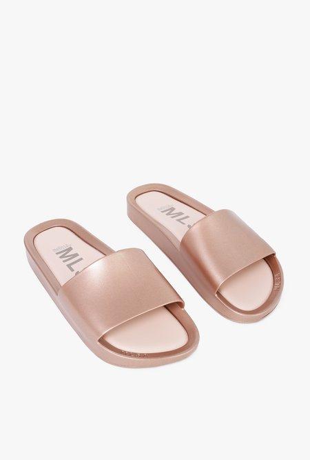 Melissa Beach Shine Slide - ROSE GOLD