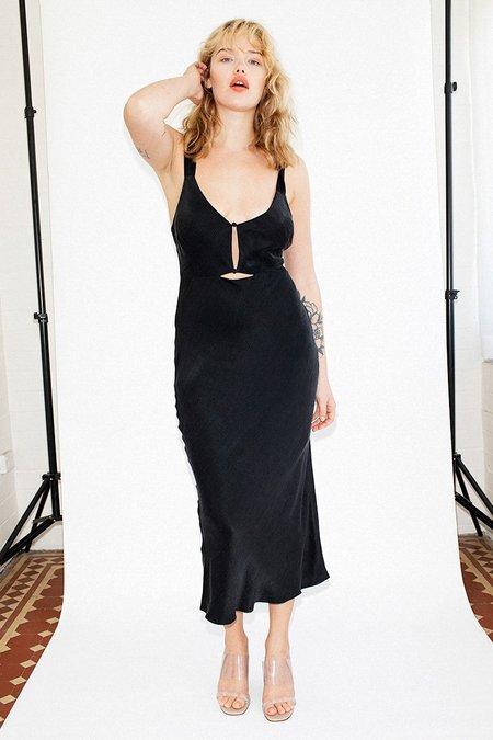 Third Form Intrigue Bias Slip Dress - Black