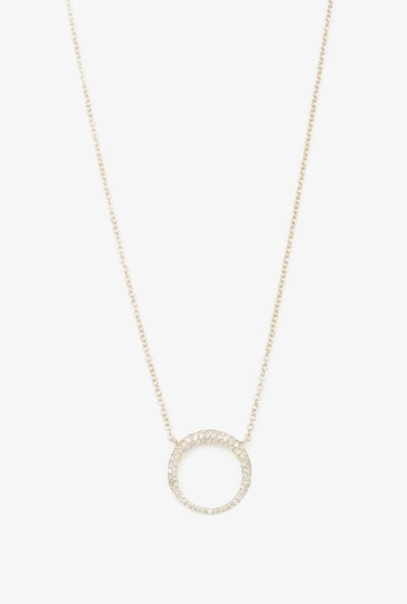 Gabriela Artigas Pave Small Balloon Necklace - 14k Gold/White Diamonds