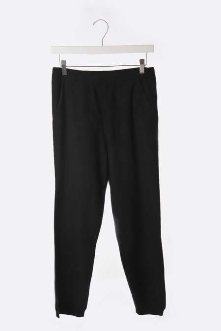 Unisex Oyuna Knitted Cashmere Pull on Pant - Black