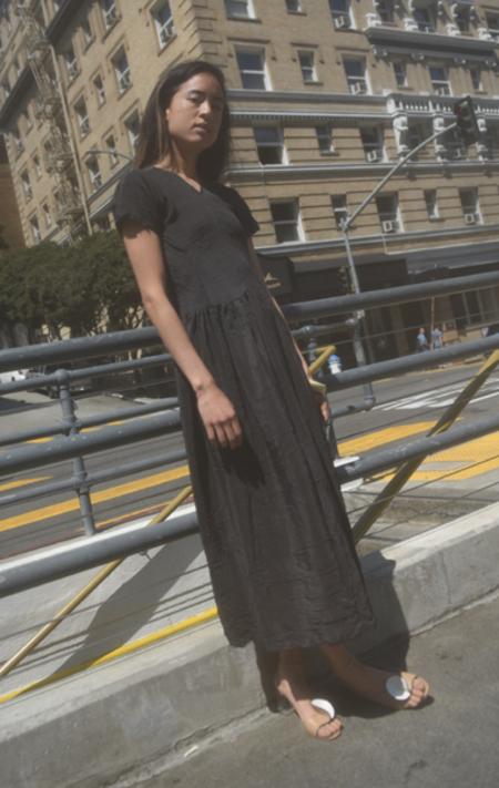 Caron Callahan Pico Dress - Black Micro Dot