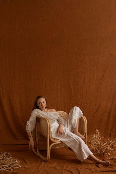 Feather Drum Yoko Culottes - White