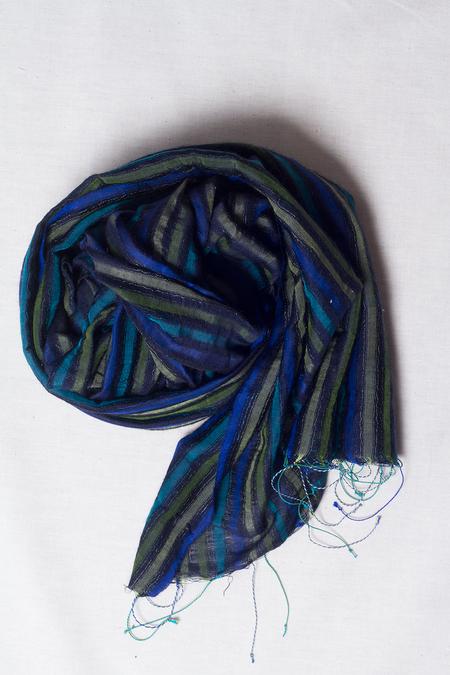 Sevya Reva Silk & Wool Scarf - Black Multi