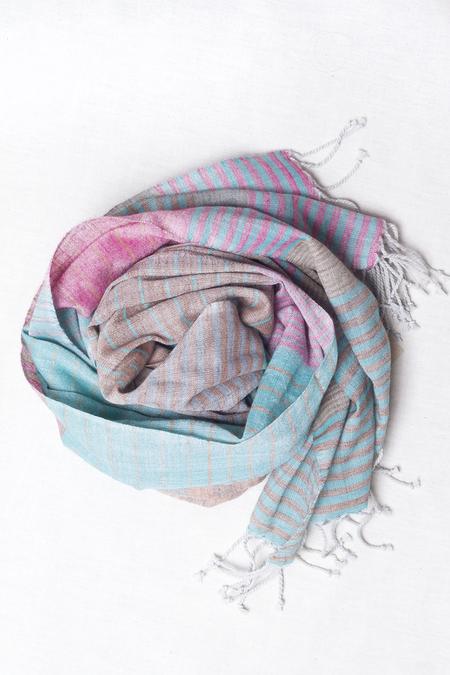 Sevya Saheli Wool Scarf - Turquoise Multi